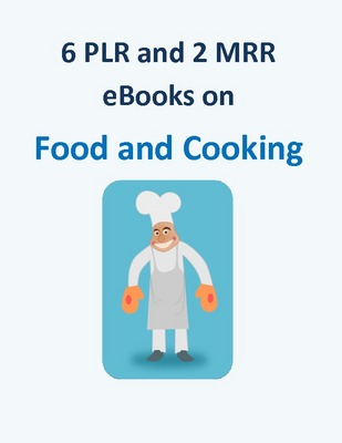 Product picture 6 PLR and 2 MRR ebooks on Food and Cooking + 10 Bonuses